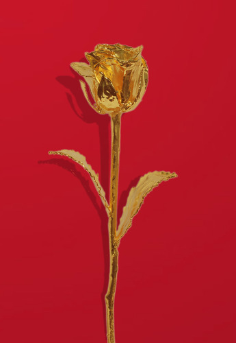 Gold Rose With Vase 6