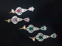 Small Color Stone Earrings