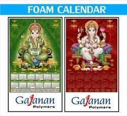 foam printed calendar
