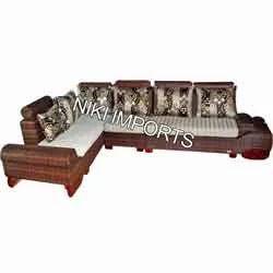 Milan Stylish Corner Sofa Set - Fabric