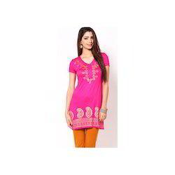 Knitted Viscose Pink Kurta