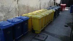 Plastic Dustbin with Wheels