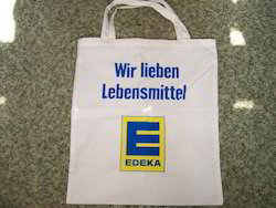 Edeka Printed Calico Bag