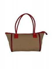 Beige And Red Col Our Combination Women Handbags