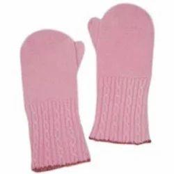 Pink Cashmere Mittens