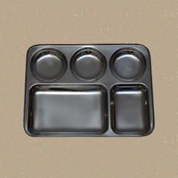 Five Division Round Bowls Trays