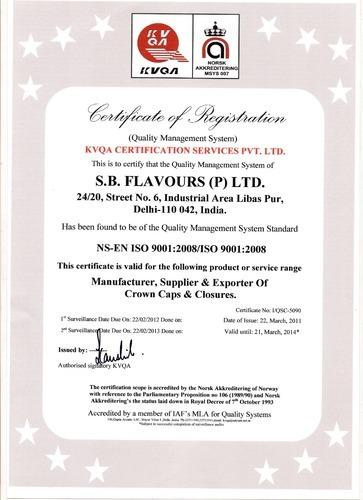 Certificate: ISO 9001:2008