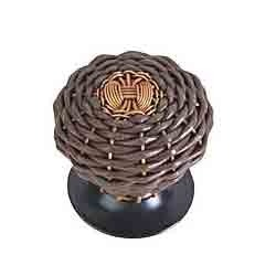 Brown Leather Wire Knob