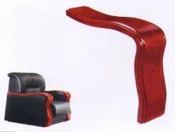 Curvy Wooden Sofa Arms