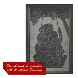 Decorative Slate Carving - Ganesha