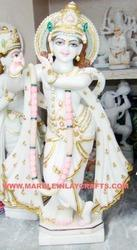 Krishna Marble Decorative Statue