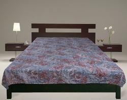 Kantha Gudari New Paisley Design Bed Cover