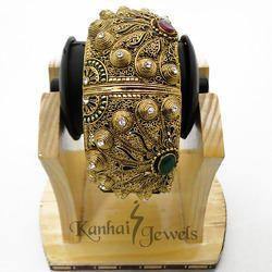polki gold plated bangles