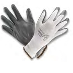Nylon Knitted Gloves with Nitrile Rubber Coating