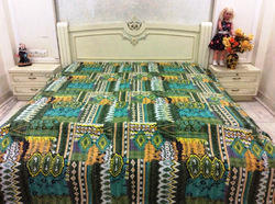 New Cotton Kantha Zig Zag Bed Cover