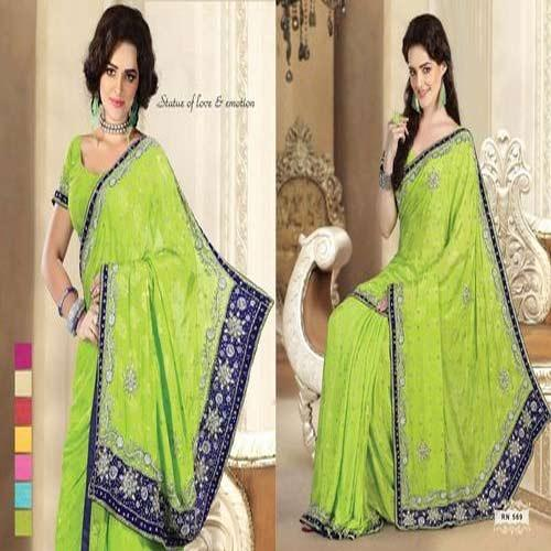 Trendy Embroidery Saree