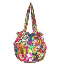 multicolor cotton bag