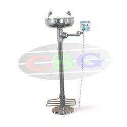 eye wash hand operated foot operated ss