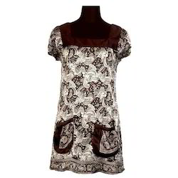 Ladies Fashionable Satin Silk Tunic Top