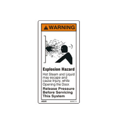 Explosion Hazard Warning Sign