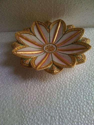 Flower Cut Marble Plate