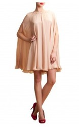 Chiffon & Crepe Georgette Cape Dress