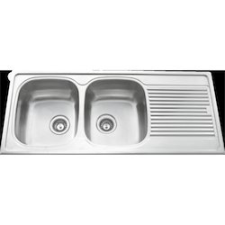 double bowl with drainer - Double Drainer Kitchen Sink