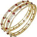 Design Ruby And Real Diamonds Bangles