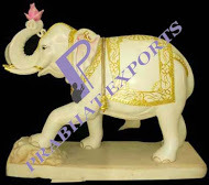 Decorative Marble Elephant Statue