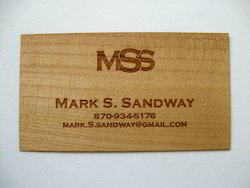 Wooden Business Cards With Laser Cutting