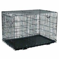 chrome dog cage
