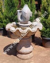 Stone Fish Fountain