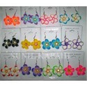 Decorative Rubber Floral Earrings