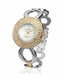 diamond studded ladies watch