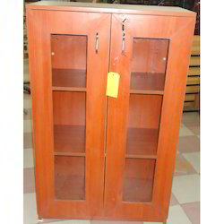 Small Glass Door Wooden Almirah
