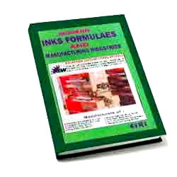 Book on Modern Inks Formulas & Manufacturing Industries