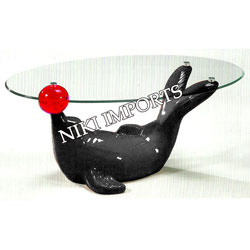 Glass Teapoy