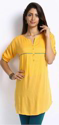 Wow Rayon Kurta Kurti with Piping