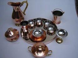Copper Hammered Set