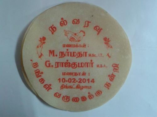 Printing Appalam