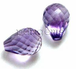 Amethyst Faceted Teardrop Beads Gemstone