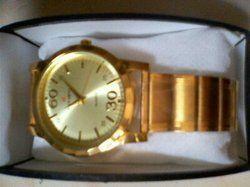 gold watch pair set