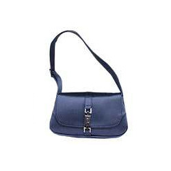 Blue Ladies Leather Handbag