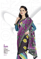Embroidered Designer Printed Sarees