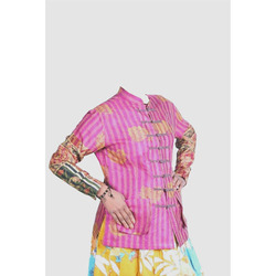 Vintage Silk Kantha Ladies Jacket