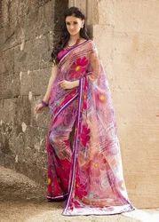 Beautiful Traditional Print Pallu Saree