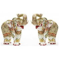 Embossed Elephant Statue