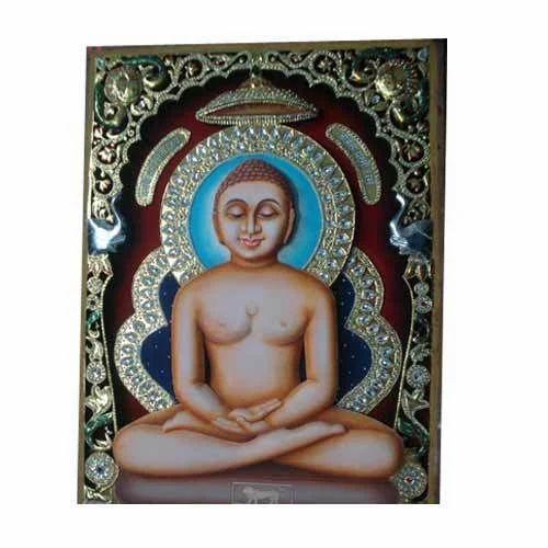 Mahavir ji Tanjore Painting