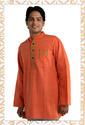 Men'S Short Kurta Orange (Mens Wear)
