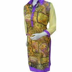 Violet Collar Ladies Kurti